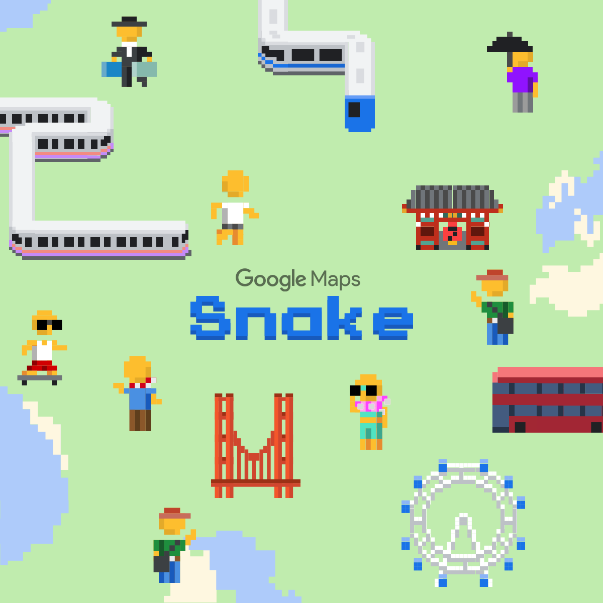 Play Snake On Google Maps - Find-us-on-google-maps-stickers